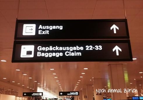Semana 2 - Noch einmal, Zurich
